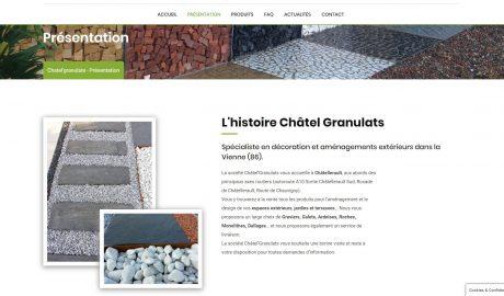 Capture nouveau site internet chatel'granulats