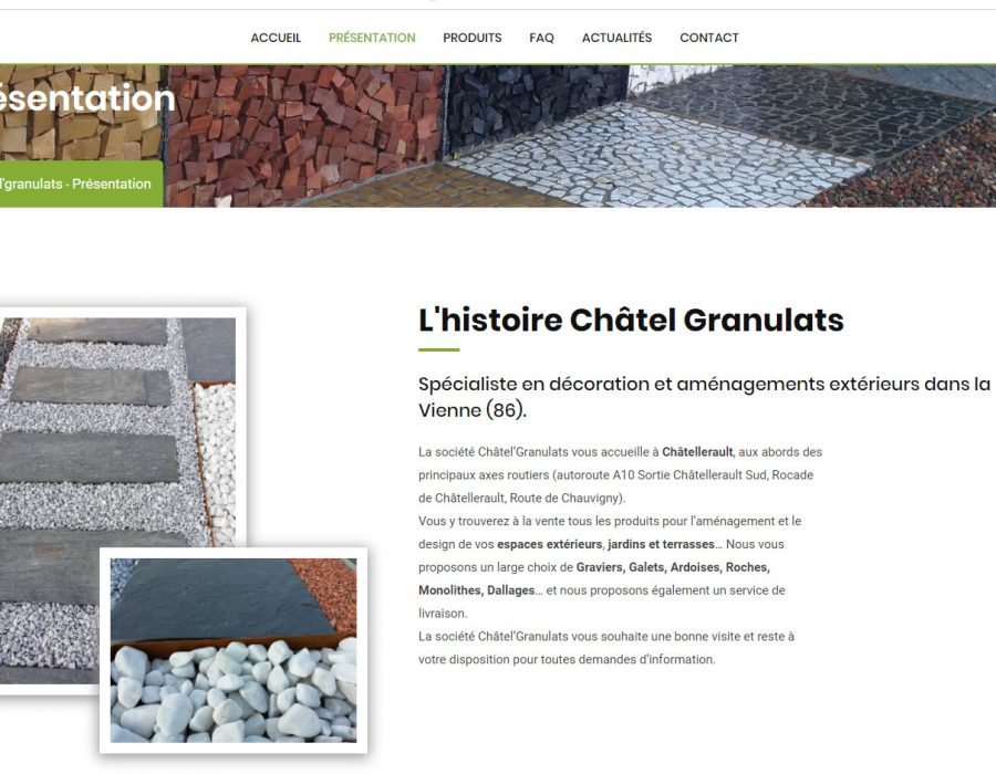 Capture nouveau site internet chatel'granulats